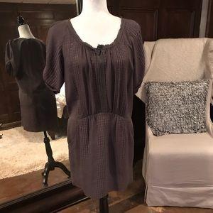 Rebecca Taylor Brown/Grey Textured Dress, 6, EUC